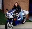 Christy and her Gixxer 600