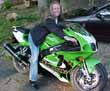 Danielle and her ZX7R