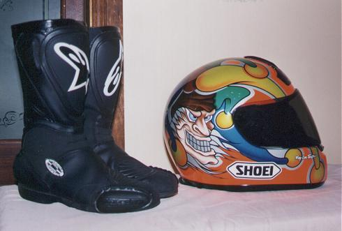 My Helmet and boots