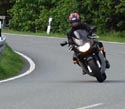 Suz  on her CBR 600 F4 in the Harz Mountains Germany!!